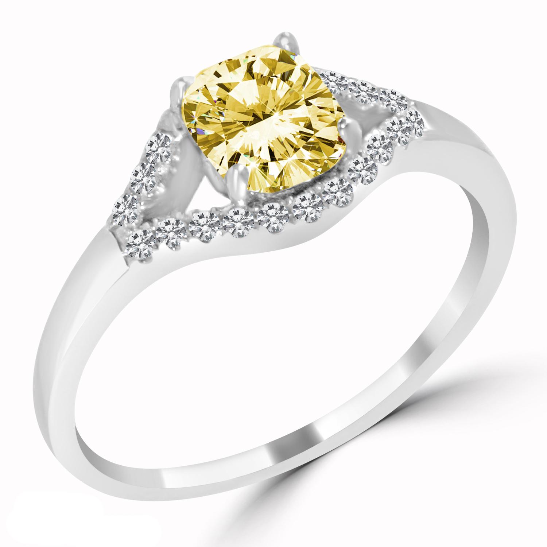 1 22 ct cushion cut engagement ring vs1 yellow 14k