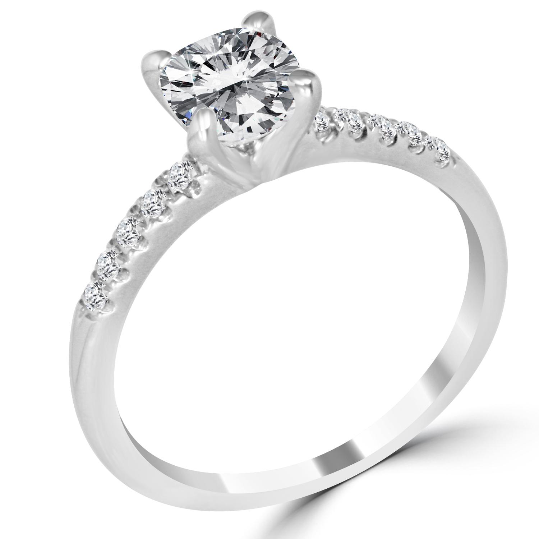 1 12 ct cushion cut vvs2 f engagement ring 14k