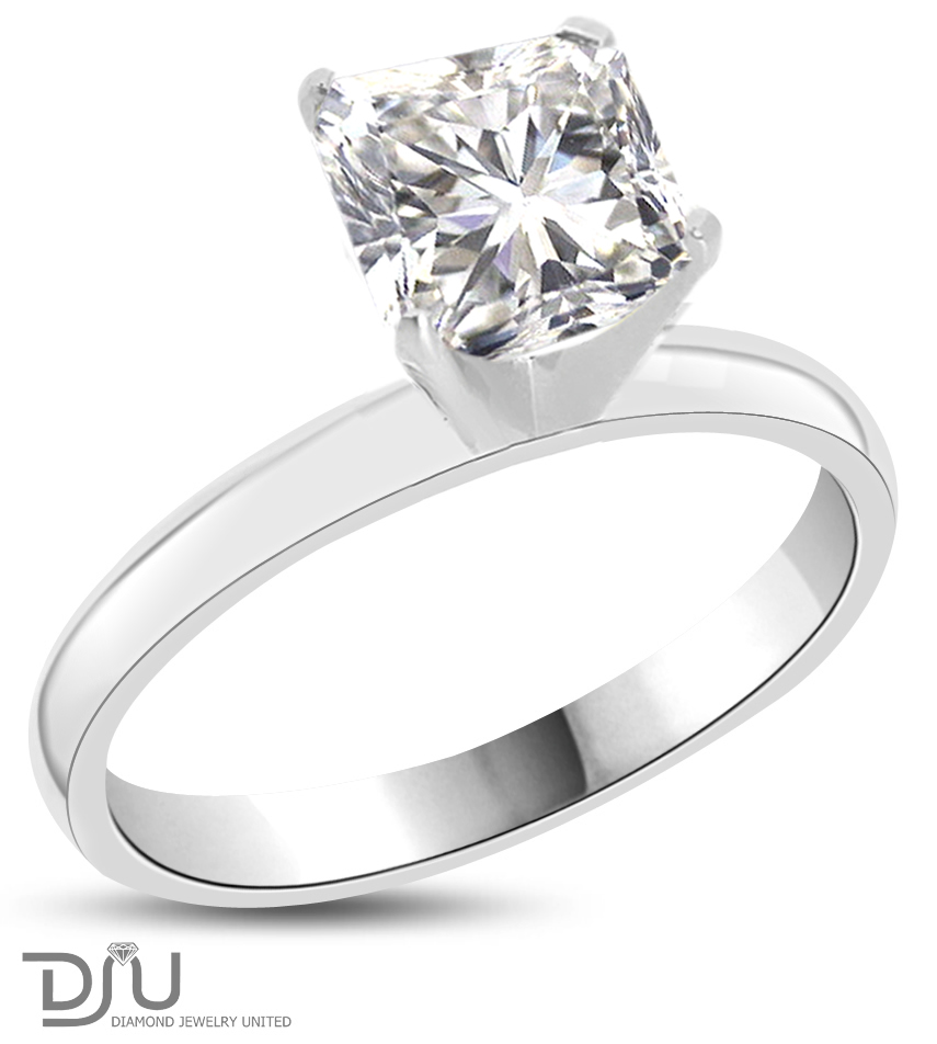 2.01 CT H VS2 Radiant Diamond Solitaire Engagement Ring