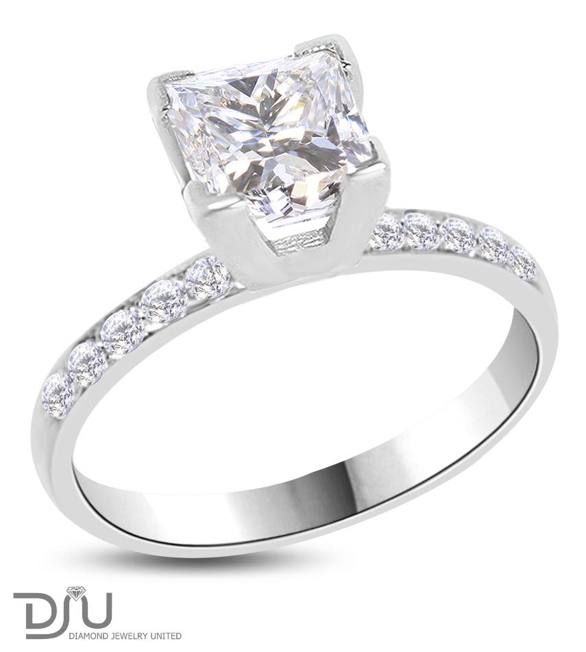2 13 ct princess cut engagement ring enhanced vs2