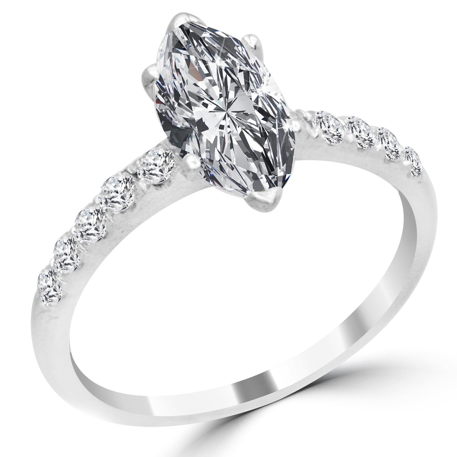 marquise wedding rings 1 55 ct marquise cut engagement ring vs1 d 14k 5722