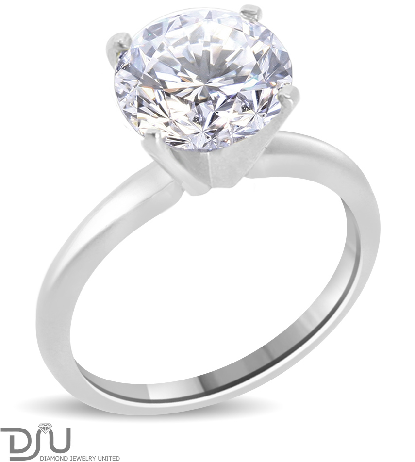 3 7 ct round cut diamond engagement ring enhanced si1 d. Black Bedroom Furniture Sets. Home Design Ideas