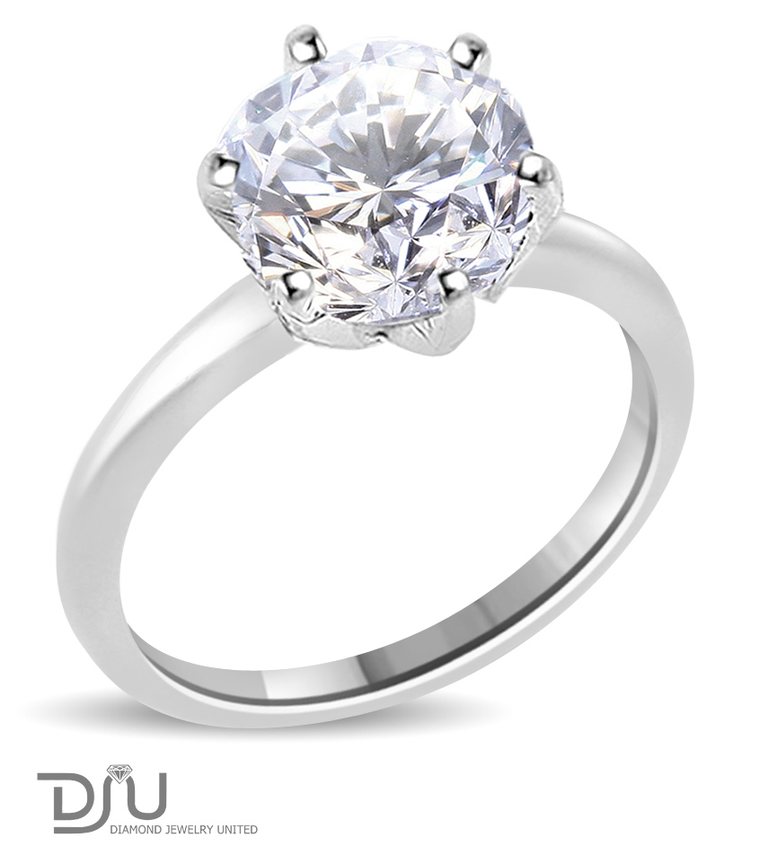 2 02 ct e si2 solitaire engagement ring 14k
