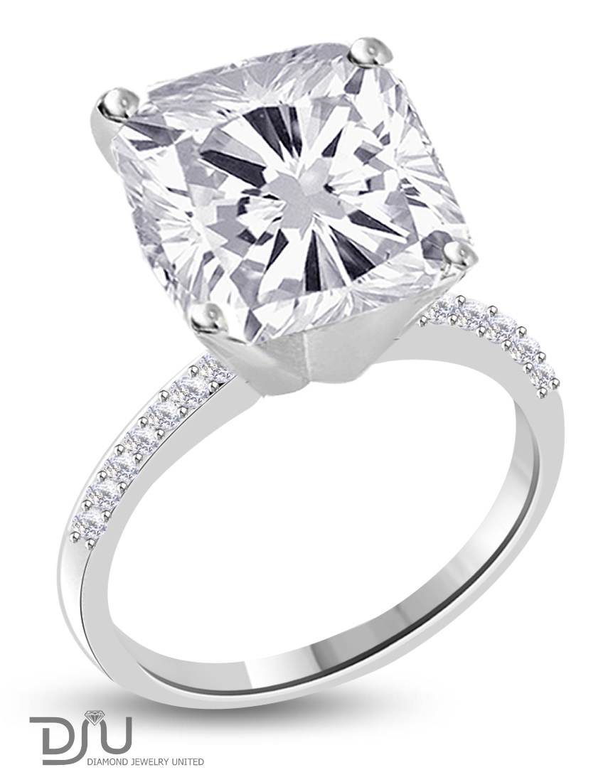 certified ct f vs2 cushion diamond solitaire. Black Bedroom Furniture Sets. Home Design Ideas