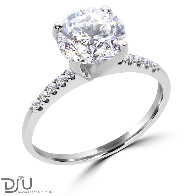 2 45 ct cut engagement ring enhanced vs1 f