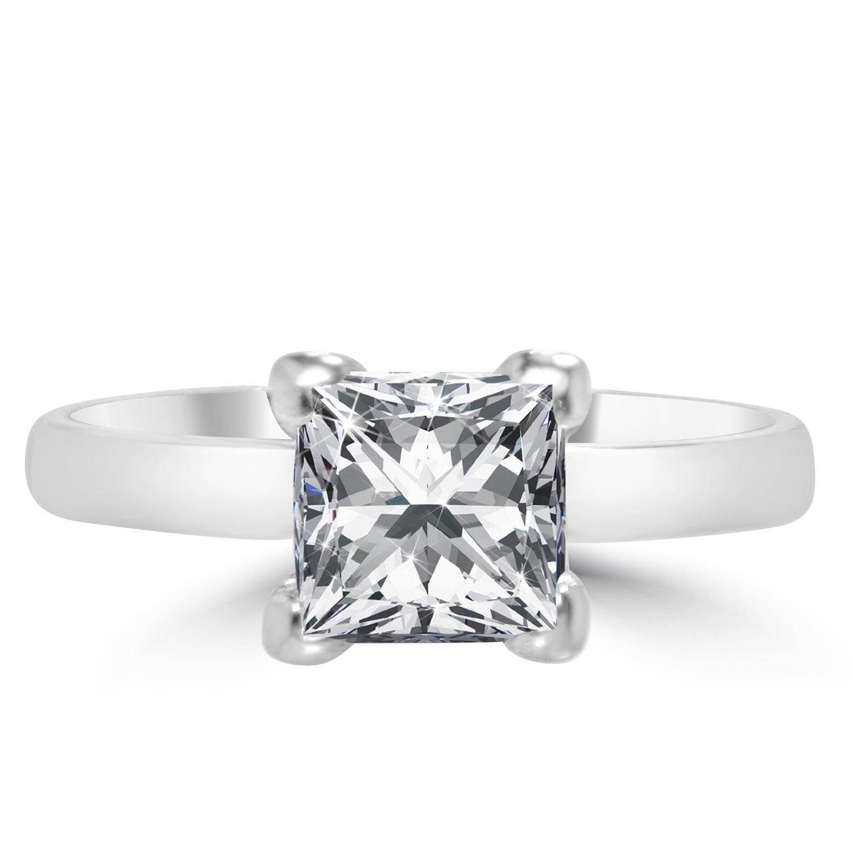 1 3 ct princess cut engagement ring si1 d 14k