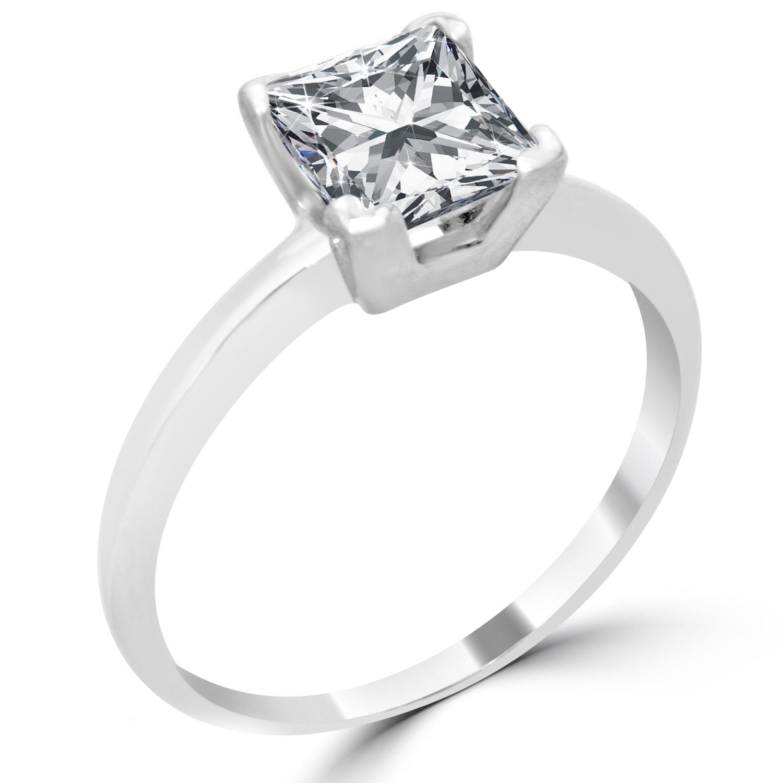 1 51 ct princess cut engagement ring enhanced si1