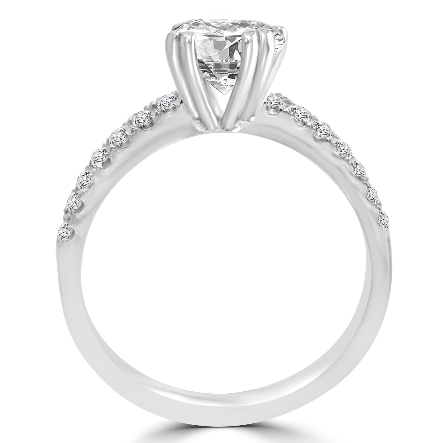 1 52 ct princess cut vs2 d engagement ring 14k
