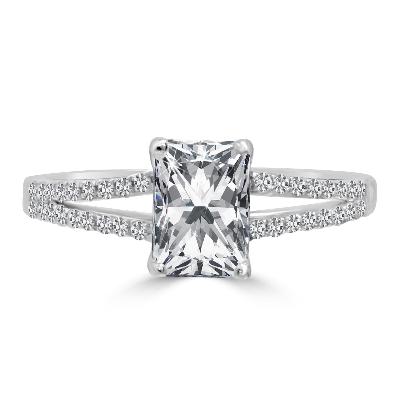 Radiant Reflections Diamond Ring 1 Ct Tw 14k White Gold: 1 Carat F/VVS2 Genuine Enhanced Diamond Engagement Ring