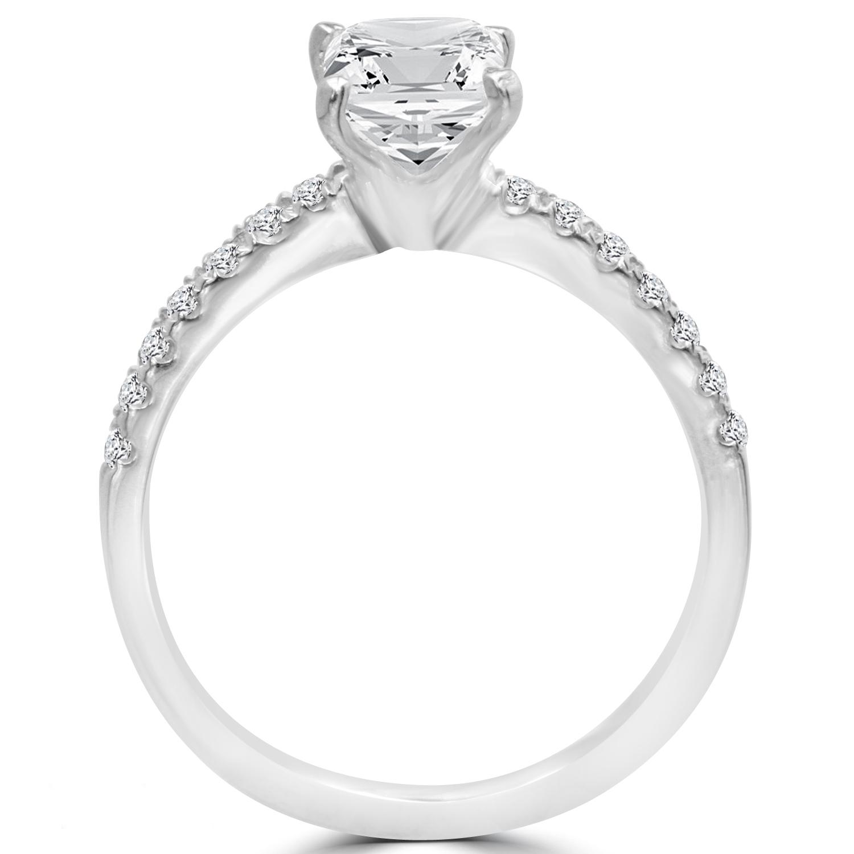Radiant Reflections Diamond Ring 1 Ct Tw 14k White Gold: 1.5 Ct Radiant Cut VS2/E Diamond Engagement Ring 14K White