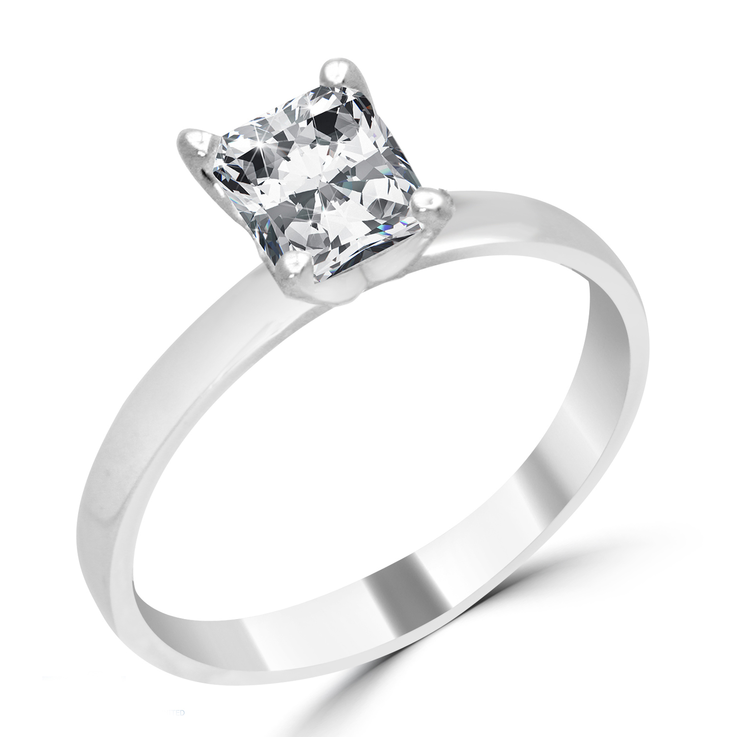 Radiant Reflections Diamond Ring 1 Ct Tw 14k White Gold: 1.27 Ct Radiant Cut Diamond Engagement Ring SI3/D 14K