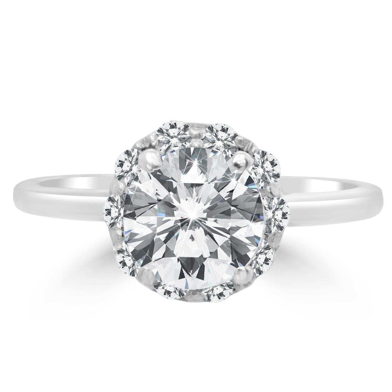 ct round cut vs2 d diamond engagement ring 14k white. Black Bedroom Furniture Sets. Home Design Ideas