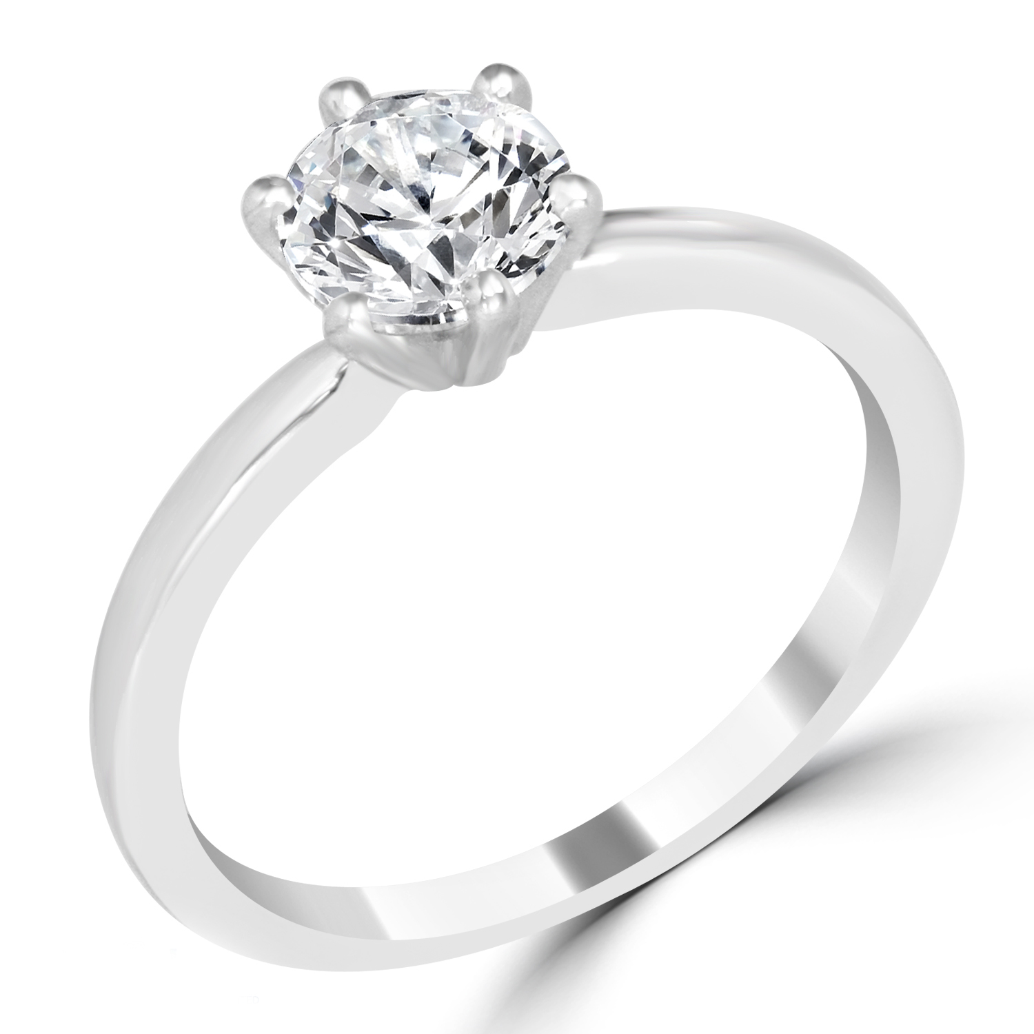 ct round cut si1 d solitaire diamond engagement ring. Black Bedroom Furniture Sets. Home Design Ideas