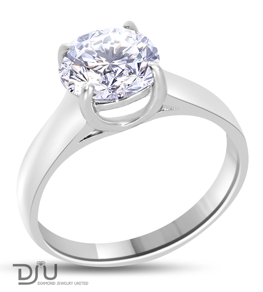 2 01 ct e si2 solitaire engagement ring 14k