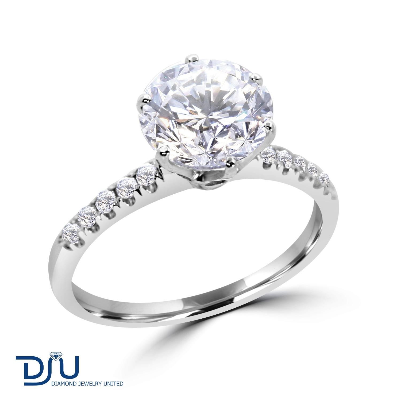 2 66 ct cut engagement ring enhanced vs2 f