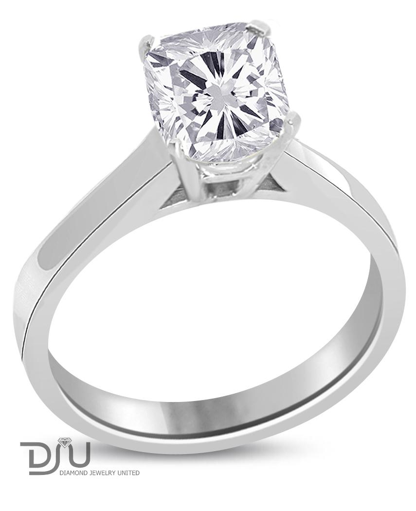 ct cushion cut diamond engagement ring f vs2 14k. Black Bedroom Furniture Sets. Home Design Ideas