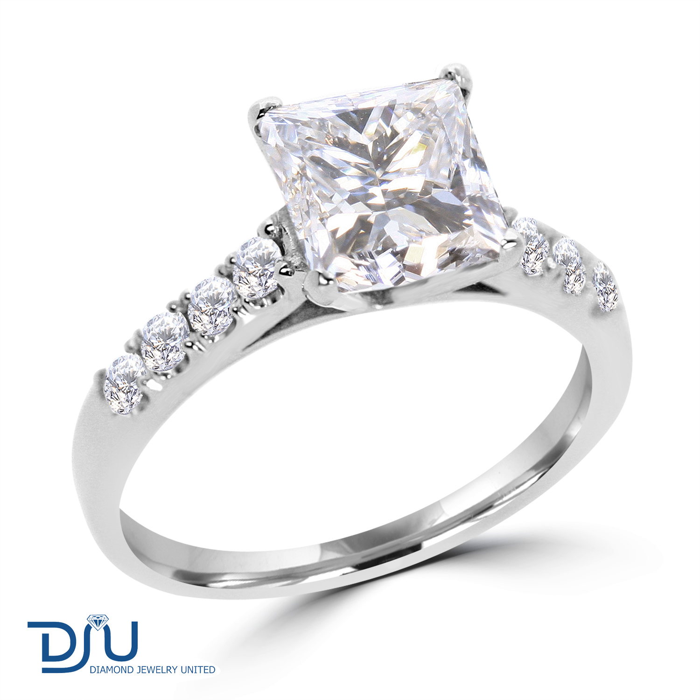 2 ct princess cut engagement ring enhanced vs2 d