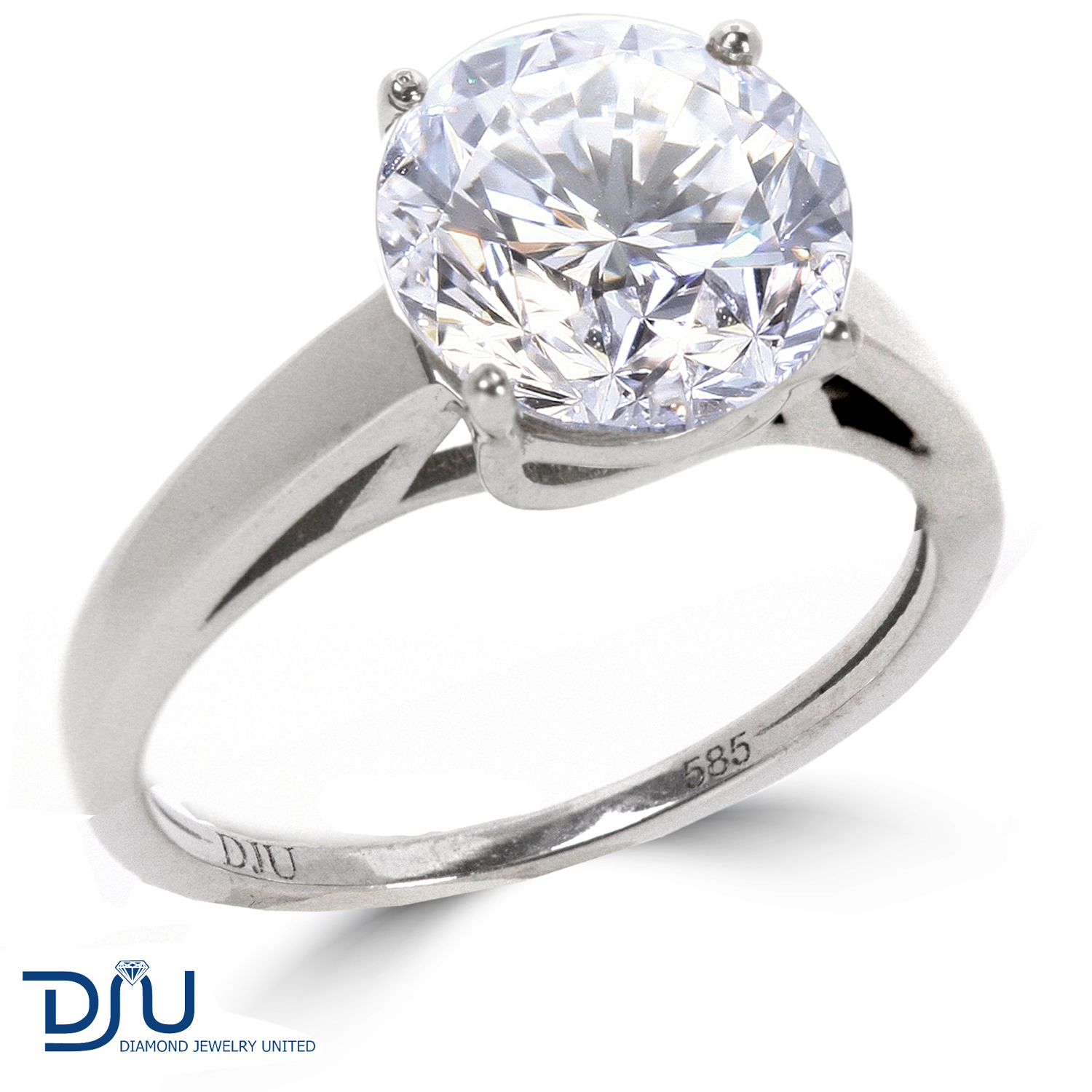 1.71 CT I/VS2 Round Diamond Solitaire Engagement Ring 14K ...