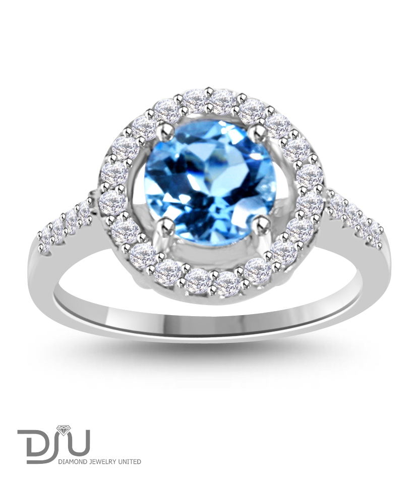 1 5 ct sky blue topaz round gemstone ring set in 925