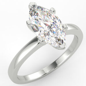 1.05 carat F VVS2 Marquise Solitaire Diamond Engagement Ring Set In 14 Karat Solid White Gold